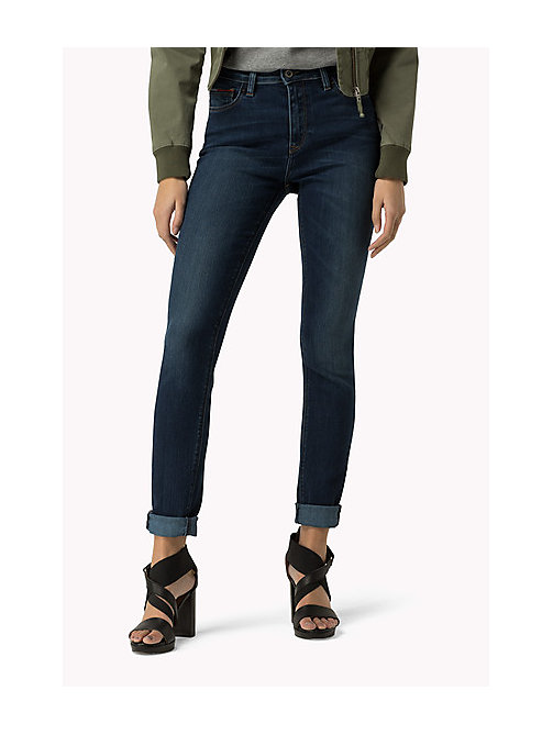 TOMMY JEANS High Rise Skinny Fit Jeans - PROTECT DARK BLUE - TOMMY JEANS Women - main image