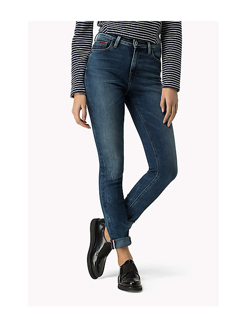 TOMMY JEANS High Rise Skinny Fit Jeans - PROTECT MID BLUE - TOMMY JEANS Clothing - main image