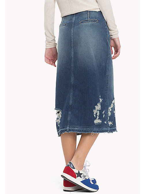 TOMMY JEANS Denim Midi Skirt - LIGHT REPAIRED RIGID - TOMMY JEANS Dresses, Jumpsuits & Skirts - detail image 1