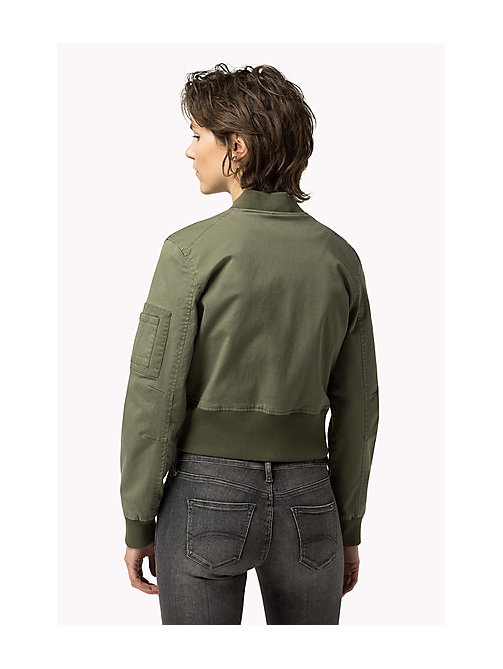 TOMMY JEANS Cropped Cargo Jacket - FOUR LEAF CLOVER - TOMMY JEANS Coats & Jackets - detail image 1