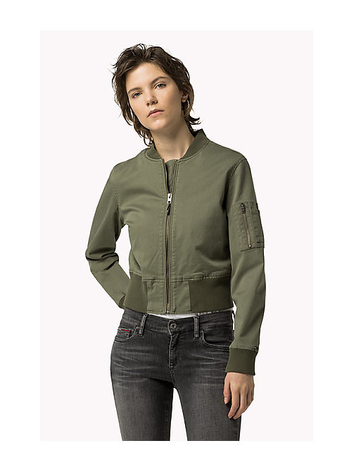 TOMMY JEANS Cropped Cargo Jacket - FOUR LEAF CLOVER - TOMMY JEANS Coats & Jackets - main image