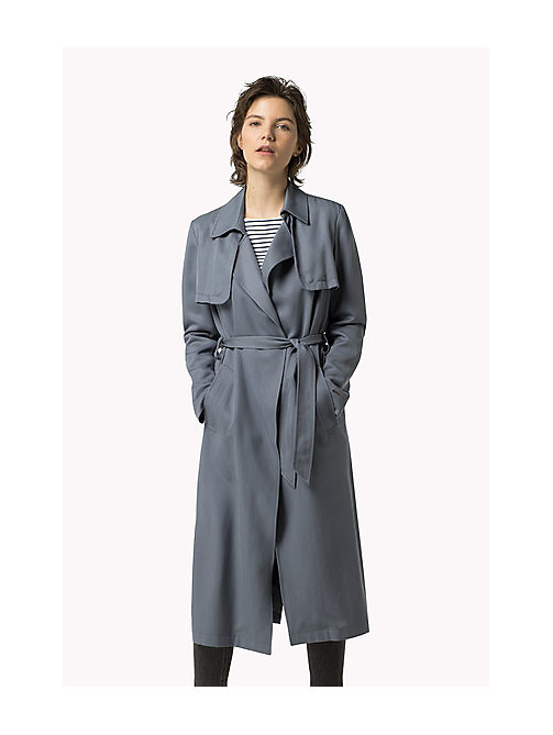 TOMMY JEANS Tencel Trench Coat - FLINT STONE - TOMMY JEANS Women - main image