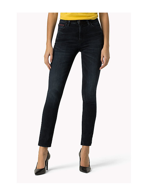 TOMMY JEANS High Rise Skinny Jeans - DYNAMIC MIDNIGHT BLUE STRETCH - TOMMY JEANS Clothing - main image