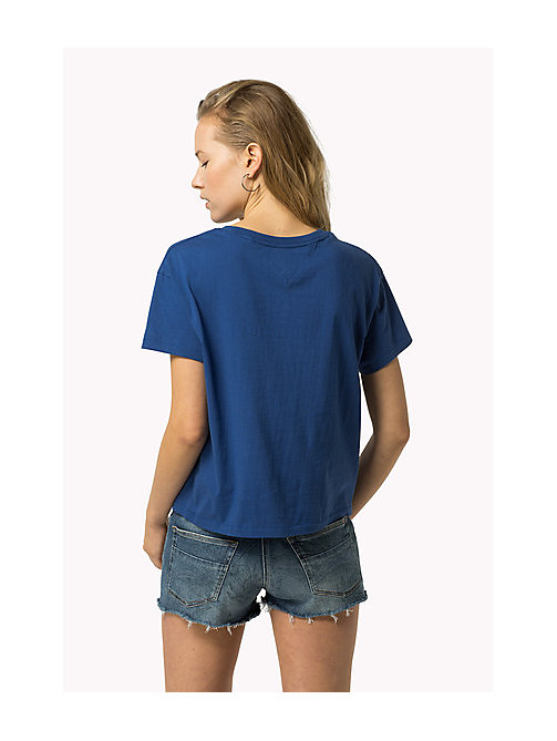 TOMMY JEANS Cropped Logo T-Shirt - GALAXY BLUE - TOMMY JEANS Women - detail image 1