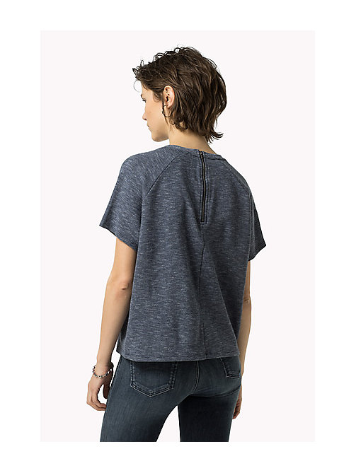 TOMMY JEANS Meliertes Strick-Top - MID INDIGO - TOMMY JEANS Damen - main image 1