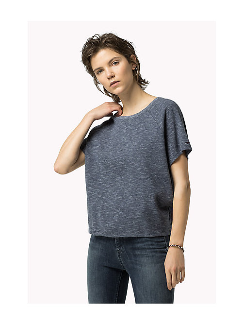 TOMMY JEANS Meliertes Strick-Top - MID INDIGO - TOMMY JEANS Damen - main image