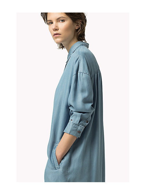TOMMY JEANS Denim Shirt Dress - CHAMBRAY - TOMMY JEANS Dresses, Jumpsuits & Skirts - main image