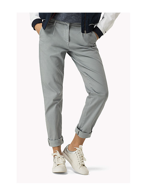 TOMMY JEANS Cotton Stretch Chinos - SLEET - TOMMY JEANS Trousers & Shorts - main image