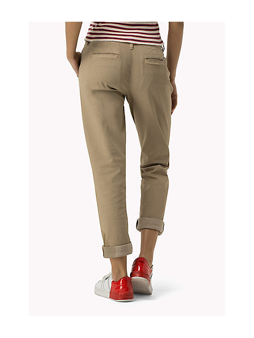 TOMMY JEANS Cotton Stretch Chinos - INCENSE - TOMMY JEANS Trousers & Shorts - detail image 1