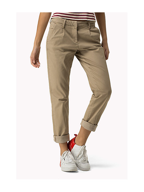 TOMMY JEANS Cotton Stretch Chinos - INCENSE - TOMMY JEANS Trousers & Shorts - main image