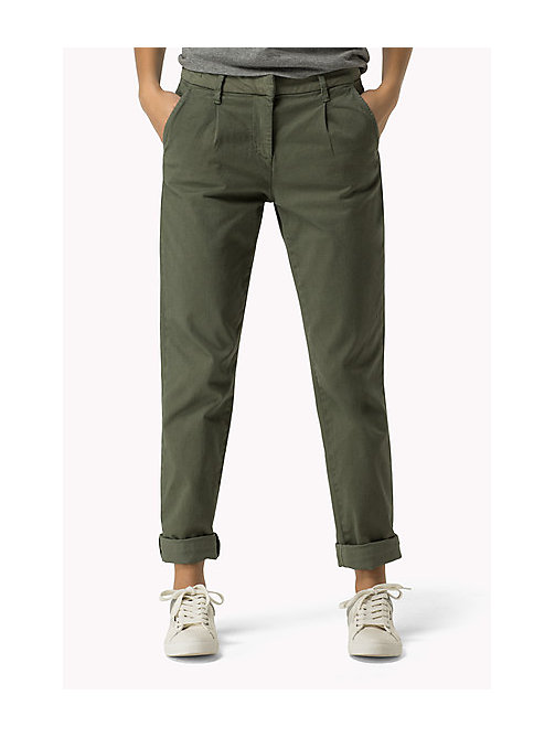 TOMMY JEANS Cotton Stretch Chinos - FOUR LEAF CLOVER - TOMMY JEANS Trousers & Shorts - main image