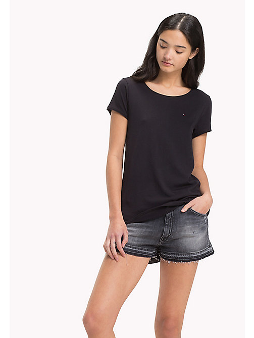 Organic Cotton Jersey Top - BLACK BEAUTY - TOMMY JEANS Clothing - main image