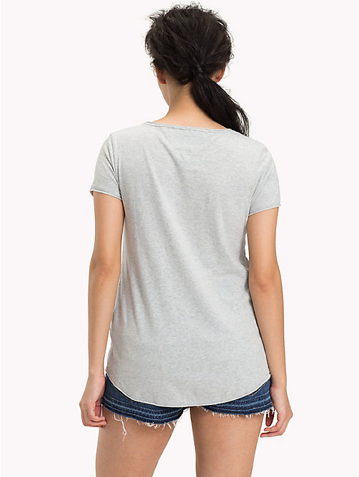 TOMMY JEANS Organic Cotton Jersey Top - LT GREY HTR - TOMMY JEANS Sustainable Evolution - detail image 1