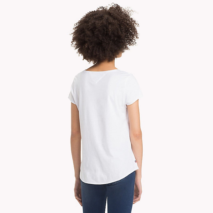 TOMMY JEANS Organic Cotton Jersey Top - LEMON CHROME - TOMMY JEANS Clothing - detail image 1