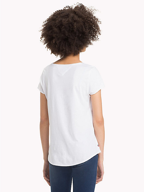TOMMY JEANS Organic Cotton Jersey Top - BRIGHT WHITE -  Sustainable Evolution - detail image 1