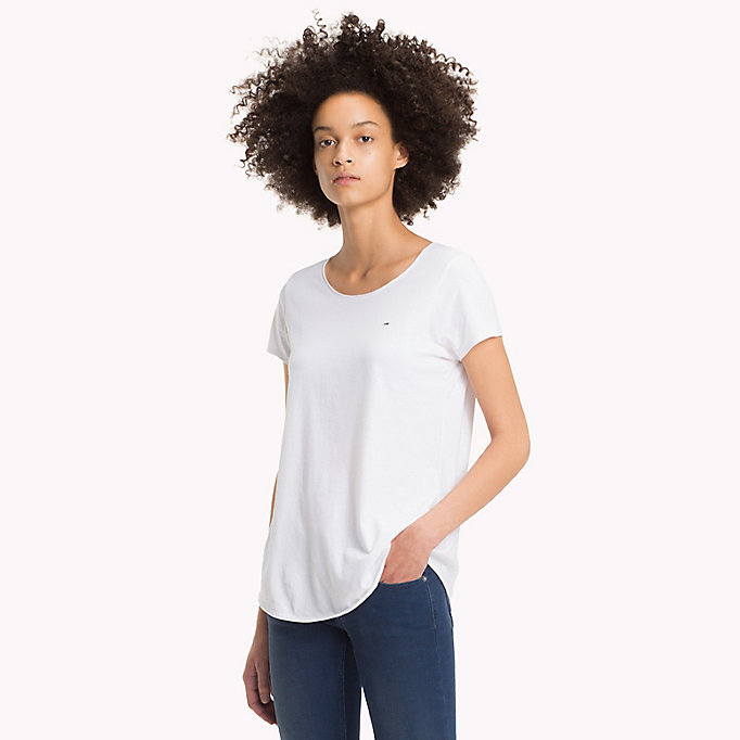 TOMMY JEANS Organic Cotton Jersey Top - LEMON CHROME - TOMMY JEANS Clothing - main image