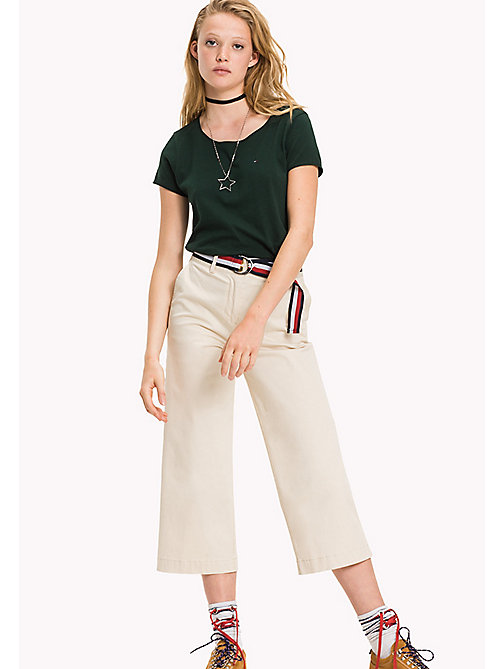 TOMMY JEANS Organic Cotton Jersey Top - PINE GROVE - TOMMY JEANS Tops - main image