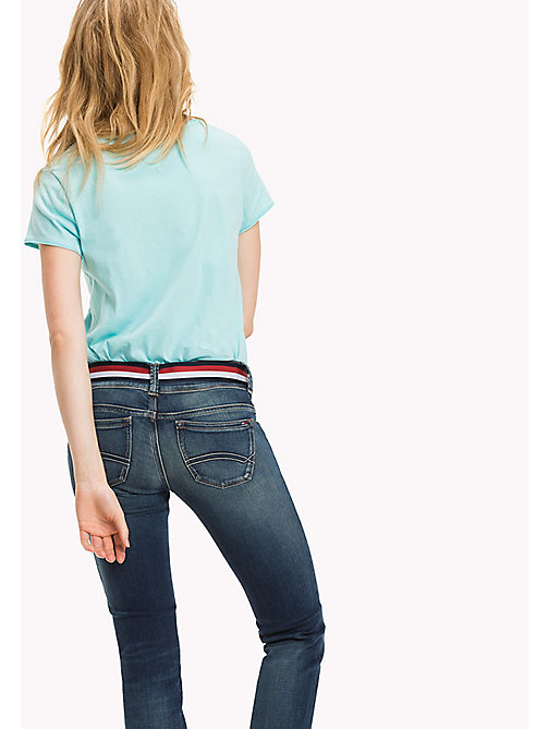 TOMMY JEANS Organic Cotton Jersey Top - ANGEL BLUE - TOMMY JEANS Tops - detail image 1