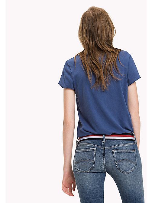 TOMMY JEANS Organic Cotton Jersey Top - TRUE NAVY - TOMMY JEANS Tops - detail image 1