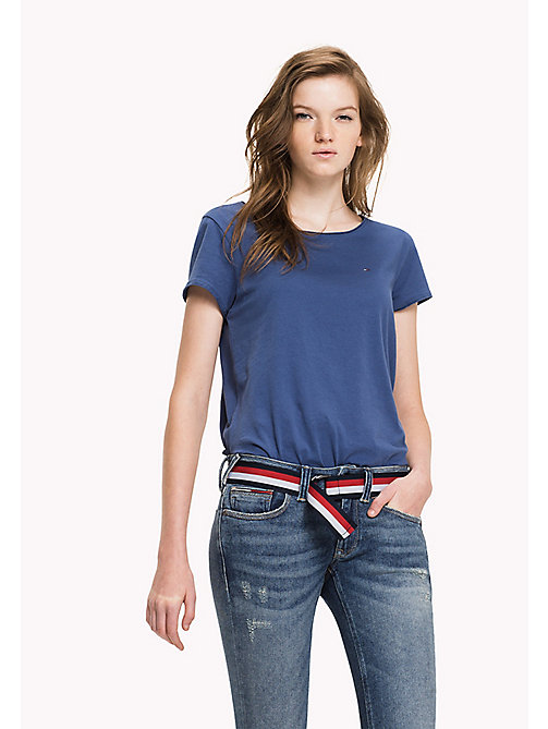 TOMMY JEANS Organic Cotton Jersey Top - TRUE NAVY - TOMMY JEANS Tops - main image