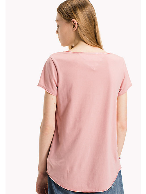 TOMMY JEANS Biologisch katoenen jersey Top - BLUSH -  Sustainable Evolution - detail image 1