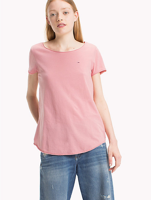 TOMMY JEANS Organic Cotton Jersey Top - BLUSH - TOMMY JEANS Tops - main image