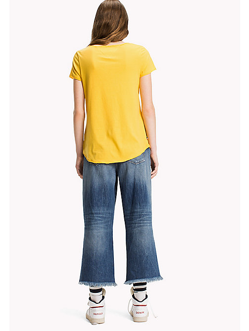 TOMMY JEANS Organic Cotton Jersey Top - LEMON CHROME - TOMMY JEANS Tops - detail image 1