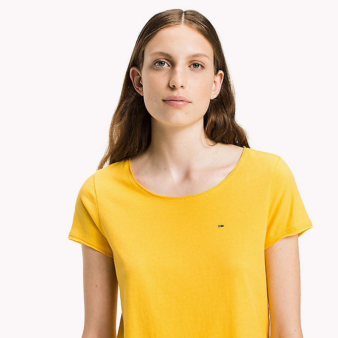 TOMMY JEANS Organic Cotton Jersey Top - BLACK BEAUTY - TOMMY JEANS Clothing - detail image 2