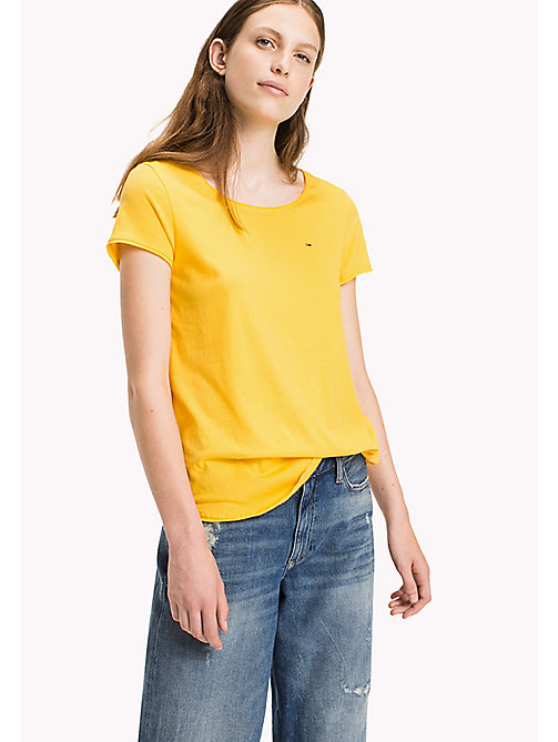 TOMMY JEANS Organic Cotton Jersey Top - LEMON CHROME - TOMMY JEANS Sustainable Evolution - main image