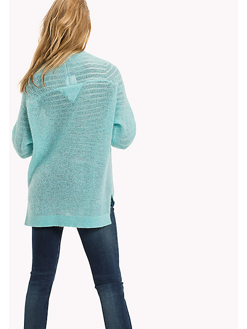 TOMMY JEANS Mohair Blend V-neck  Jumper - ANGEL BLUE - TOMMY JEANS Women - detail image 1