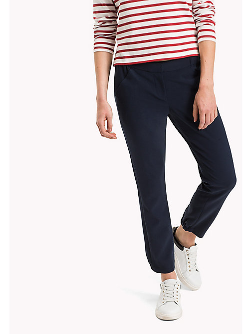 TOMMY JEANS Viscose Slim Fit Trousers - TOTAL ECLIPSE - TOMMY JEANS Women - main image