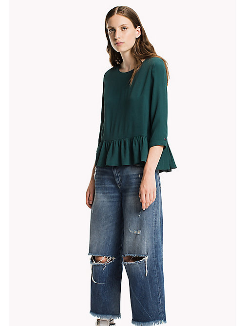 Viscose Poplin Peplum Blouse - SEA MOSS - TOMMY JEANS Clothing - main image