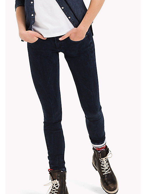 TOMMY JEANS Skinny fit jeans - DYNAMIC OVERDYED BLUE STRETCH - TOMMY JEANS Jeans - main image