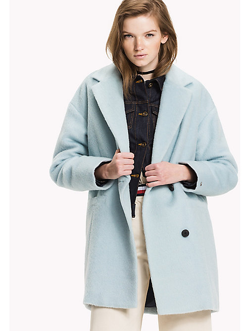 TOMMY JEANS Wool Blend Padded Coat - ANGEL BLUE - TOMMY JEANS Coats & Jackets - main image