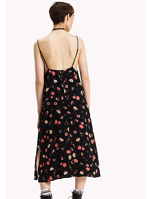 TOMMY JEANS Viscose Floral Dress - FLORAL PRINT LARGE - TOMMY JEANS Dresses, Jumpsuits & Skirts - detail image 1