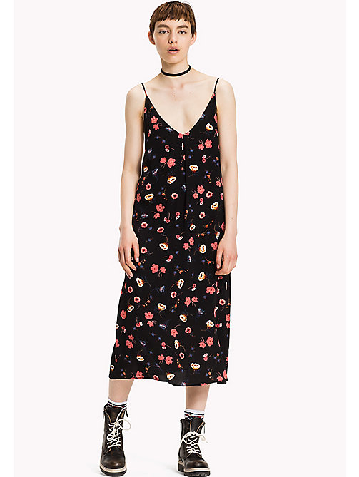 TOMMY JEANS Viscose Floral Dress - FLORAL PRINT LARGE - TOMMY JEANS Dresses, Jumpsuits & Skirts - main image