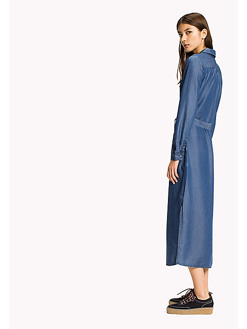 TOMMY JEANS Tencel Shirt Dress - MID INDIGO - TOMMY JEANS Dresses, Jumpsuits & Skirts - detail image 1