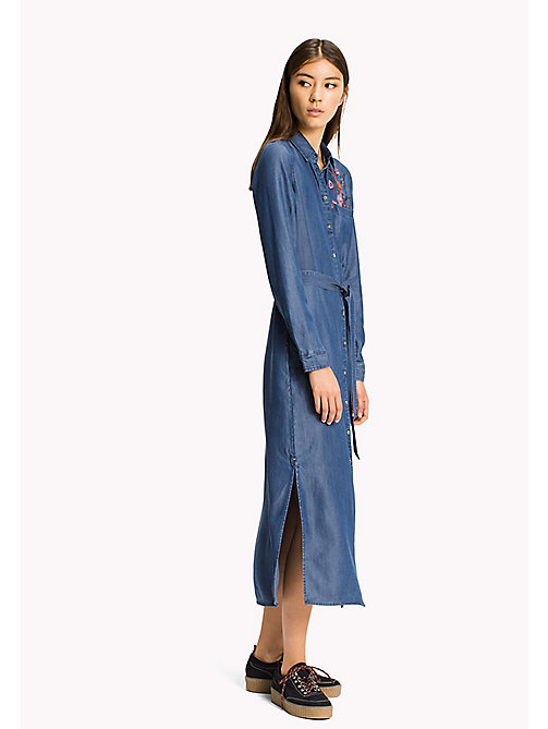 TOMMY JEANS Tencel Shirt Dress - MID INDIGO - TOMMY JEANS Dresses, Jumpsuits & Skirts - main image