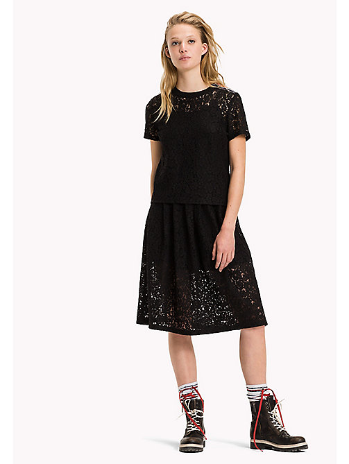 TOMMY JEANS Lace A-line Fit Skirt - BLACK BEAUTY - TOMMY JEANS Dresses, Jumpsuits & Skirts - main image