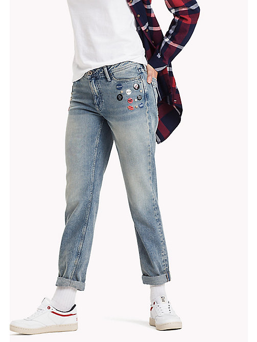 TOMMY JEANS Straight fit jeans - REBEL MID BLUE RIGID - TOMMY JEANS Jeans - main image