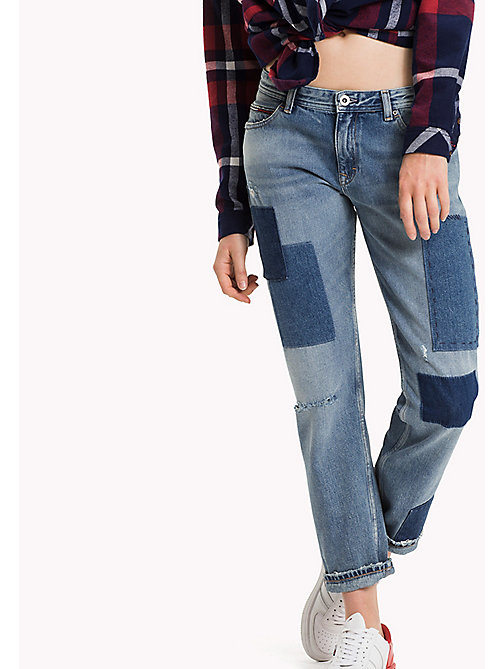 TOMMY JEANS Cropped straight fit jeans - AUTHENTIC PATCHWORK RIGID - TOMMY JEANS Jeans - main image