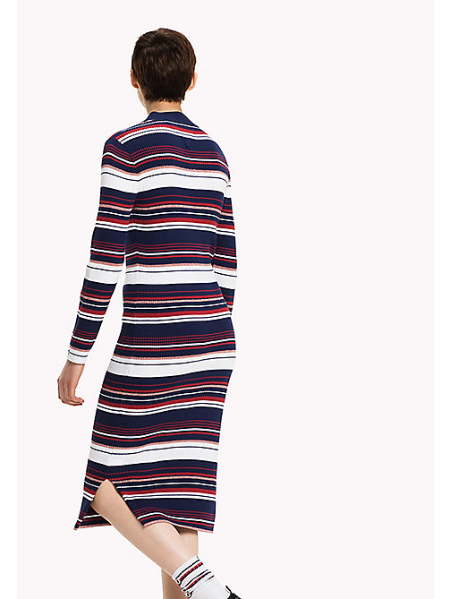TOMMY JEANS Rib-knit Maxi Dress - MEDIEVAL BLUE / MULTI - TOMMY JEANS Dresses, Jumpsuits & Skirts - detail image 1