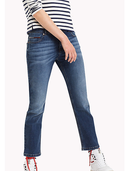 TOMMY JEANS Cropped straight fit jeans - WARM MID BLUE COMFORT - TOMMY JEANS Jeans - main image