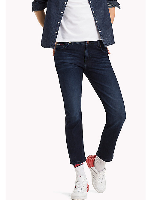 TOMMY JEANS Cropped straight fit jeans - WARM DARK BLUE COMFORT - TOMMY JEANS Jeans - main image