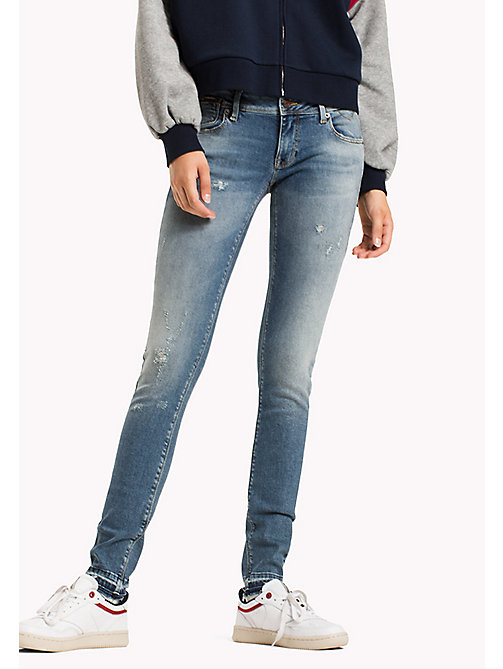 TOMMY JEANS Skinny Fit Jeans - OREGON LIGHT BLUE STRETCH DESTR. - TOMMY JEANS Jeans - main image