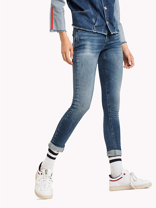 TOMMY JEANS Skinny Fit Jeans - OREGON MID BLUE STRETCH - TOMMY JEANS TOMMY JEANS WOMEN - main image
