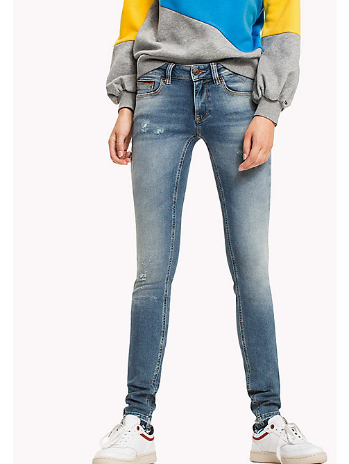 TOMMY JEANS Jeansy o obcisłym kroju - OREGON LIGHT BLUE STRETCH DESTR. - TOMMY JEANS TOMMY JEANS WOMEN - main image