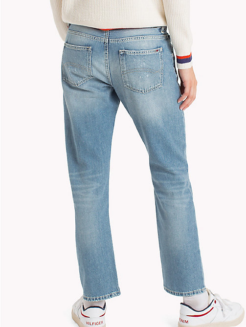 TOMMY JEANS Straight Fit Jeans - KANSAS LIGHT BLUE RIGID DESTRUCTED - TOMMY JEANS Jeans - detail image 1