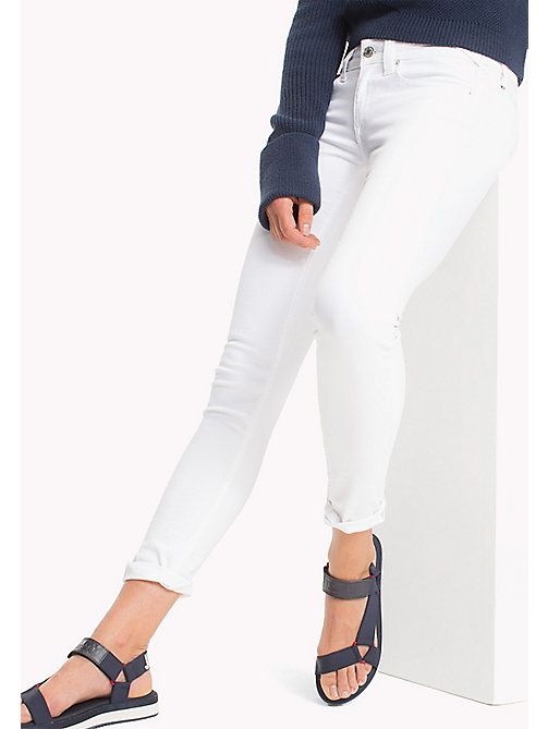 TOMMY JEANS Low Rise Skinny Fit Jeans - ICELAND WHITE STRETCH - TOMMY JEANS WOMEN - main image