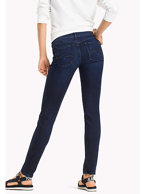 TOMMY JEANS Jeans Scarlett skinny - FLORIDA DARK BLUE STRETCH - TOMMY JEANS DONNE - dettaglio immagine 1